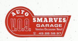 Autocollant , Automobile , V.O.9 , AUTO SMARVES ,  Garage - Autocollants