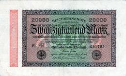 Billet Allemand De 20000 Mark Le 20 Février 1923 - En T T B + - - 20000 Mark