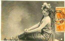 "MUJER - FEMME - WOMAN. ""BASCONE"" WALWRY PARIS. ARTISTIQUE POSTALE CPA CIRCULE 1903 ARGENTINA TO URUGUAY - LILHU - Frauen"