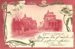 BERLIN, Reichstagsgebäude Und Brandenburgerthor (1899) Litho-AK - Germany