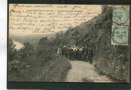 CPA - PLECHATEL - Le Sentier Des Grottes, Très Animé - Autres Communes