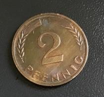 "GERMANIA - DEUTSCHLAND - 1965 -  2 Pfennig  "" D "" , Ottime Condizioni - [ 7] 1949-… : RFA - Rep. Fed. Tedesca"
