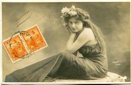 "MUJER - FEMME - WOMAN. ""BAXONNE"" WALERY PARIS. ARTISTIQUE POSTALE CPA CIRCULE 1903 ARGENTINA TO URUGUAY - LILHU - Frauen"