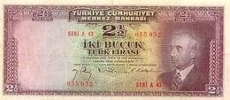 2 1/2 LIVRES 1942 - Türkei