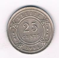 25 CENTS 1994 BELIZE /3986/ - Belize