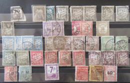 France - Lot De Timbres Principalement Taxe Dont N°1 Et N°20 Oblitérés + FM Et Colis Postaux - A étudier - Collections