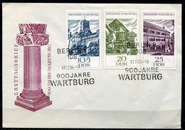 """DDR 1966 First Day Cover Mi.Nr.1233/35 """"900 Jahre Wartburg Bei Eisenach""""mit ESST Berlin.""""1 FDC - Schlösser U. Burgen"""