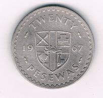 20 PESEWAS 1967 GHANA /3988/ - Ghana