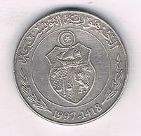 1/2 DINAR  1997 TUNESIE /3990/ - Tunisie