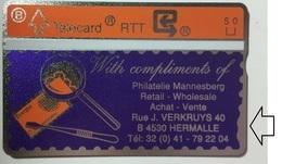 P9 MANNESBERG FILATELIE With STAMP   .. ERROR PRINT , SEE Dents Right Under (only 25 !!) - Belgique