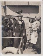 TORBAY DEVON  FLAGSHIP QUEEN ELIZABETH SHIPS MASCOT 1923  SEE CORNER   21 * 16 CM Fonds Victor FORBIN 1864-1947 - Boats