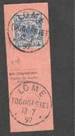 GERMAN COLONIES....TOGO1900-1: Michel V48used On Piece Of Card - Colony: Togo