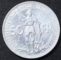 BELGIE LEOPOLD III  50 FRANK  BRUSSELSCHE  TENTOONSTELLING 1835 1935  MOOIE STAAT 4 SCANS - 1934-1945: Leopold III