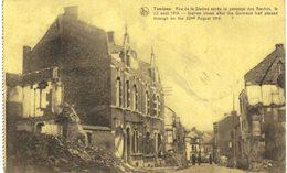 TAMINES   Rue De La Station Après Le Passage Des Boches Le 22 Août 1914 - Sambreville