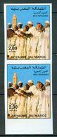 MOROCCO MAROC MAROKKO BLOC DE 2 TIMBRES ARTS POPULAIRES 1985 NON DENTELÉ - Maroc (1956-...)
