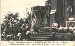 TAMINES   Manifestation Patriotique 25 Mai 1919 Allocution  De Mgr Heylen , éêveque De Namur - Sambreville