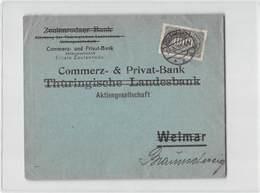 6832 01  COMMERZ UND PRIVAT-BANK FILIALE ZEULENRODA - Storia Postale