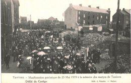 TAMINES   Manifestation Patriotique 25 Mai 1919  Défilé Du Cortège - Sambreville