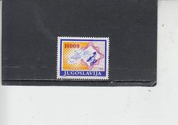 JUGOSLAVIA  1989 - Unificato  2217a° - La Posta - 1945-1992 Repubblica Socialista Federale Di Jugoslavia