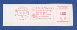 BRD ASF - MÜNCHEN, Heller + Ponwenger - Offizieller Ausrüster Für Die Spiele Der XX. Olympiade 15.5.72 - Sommer 1972: München