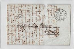 7398 01 SYRA TO TRIESTE - FRAGILE AND DAMAGED PAPER - ...-1861 Prefilatelia