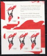 2008  Summer Olympics  Athlete Waving Flag  Booklet Pane Of 3  Sc 2261 - Ungebraucht