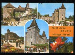 CPM Neuve 24 SAINT JEAN DE COLE Multi Vues Village Fleuri Et Château De La Marthonie - Other Municipalities