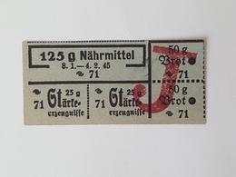 "Judaica WW2 WWII Holocaust Third Reich Loaf Ticket With Red ""J"" Jewish Anti Semitic Rare Judaika Juif Ghetto - Tickets D'entrée"