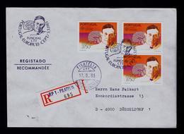 Europe CEPT EGAS MONIZ Fdc Portugal Funchal Santé Nobel Prize (circulate Out Time: 17-08 NO 05-05 To Dusseldorf) Gc3937 - Europa-CEPT