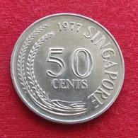 Singapore 50 Cents 1977 KM# 5 Singapura Singapur Singapour - Singapur
