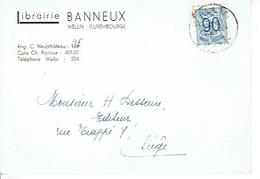 CP Publicitaire WELLIN 1952 - Librairie BANNEUX - Welkenraedt