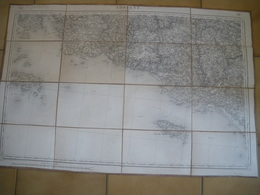 Carte Géographique De LORIENT Levée Par Les Officiers Du Corps D'état Major Et Publiée Par Le Dépot De La Guerre  1853 - Geographical Maps