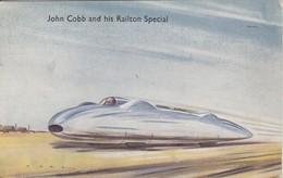 John Cobb Et Son Railton Spécial (voiture ,avion) Carte Anglaise. - Postcards