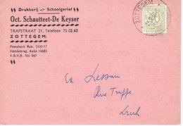 PK Publicitaire ZOTTEGEM 1959 - Oct. SCHAUTTEET-DE KEYSER - Drukkerij  - Schoolgerief - Zottegem