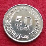 Singapore 50 Cents 1970 KM# 5 Singapura Singapur Singapour - Singapur
