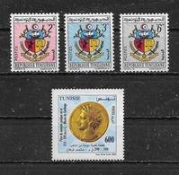 TUNISIE   Yvert  N° 542 à 544 * Et 1510 Neuf Sans Gomme - Tunisie (1956-...)