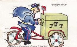 Carte Système Complète MONTPON SUR L'ISLE (Dordogne) Facteur En Triporteur Circulée Timbrée 1955 Tampon Taxe - Altri Comuni