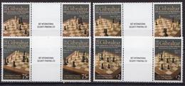 Gibraltar MNH Set In Gutter Pairs - Chess