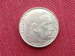ALLEMAGNE Monnaie De 2 Mark 1939 D En Argent - [ 4] 1933-1945 : Troisième Reich
