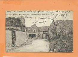CPA - Moulins  -(Aisne ) - Rue De Bourg Et Comin Après Le 16 Avril 1917 - France