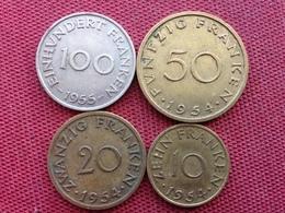 FRANCE SARRELAND Série Complète De 4 Monnaies - Sarre (1954-1955)