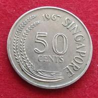 Singapore 50 Cents 1967 KM# 5 Singapura Singapur Singapour - Singapur