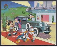 REDONDA 1990 DISNEY - MICKEY - MINNIE - DONALD - DAISY - GOFFY - CHRISTMAS - Antigua And Barbuda (1981-...)