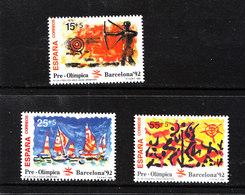 Spagna - 1992. Pre-Olimpiadi Barcellona.Tiro Con Arco, Vela ,Volley. MNH - Estate 1992: Barcellona