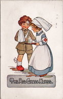 The Red Cross Nurse WW1 C1915 A.M. Davis Postcard Z2 - Red Cross