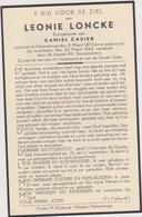 DOODSPRENTJE LONCKE LEONIE ECHTGENOTE CASIER VLAMERTINGE (1873 - 1943) - Imágenes Religiosas