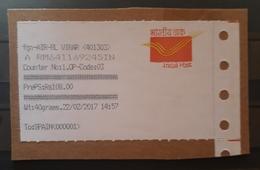 ETIQUETA INDIA POST. INDIA A ESPAÑA. - ATM - Frama (viñetas)