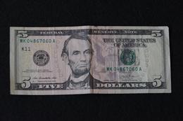 Billete 5 Dollars 2013 - Federal Reserve Notes (1928-...)