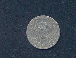 ALLEMAGNE -1/2 MARK 1906 - [ 2] 1871-1918 : Empire Allemand