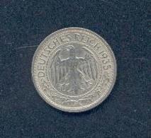 ALLEMAGNE -50 PFENNIG 1935 D - [ 4] 1933-1945 : Troisième Reich